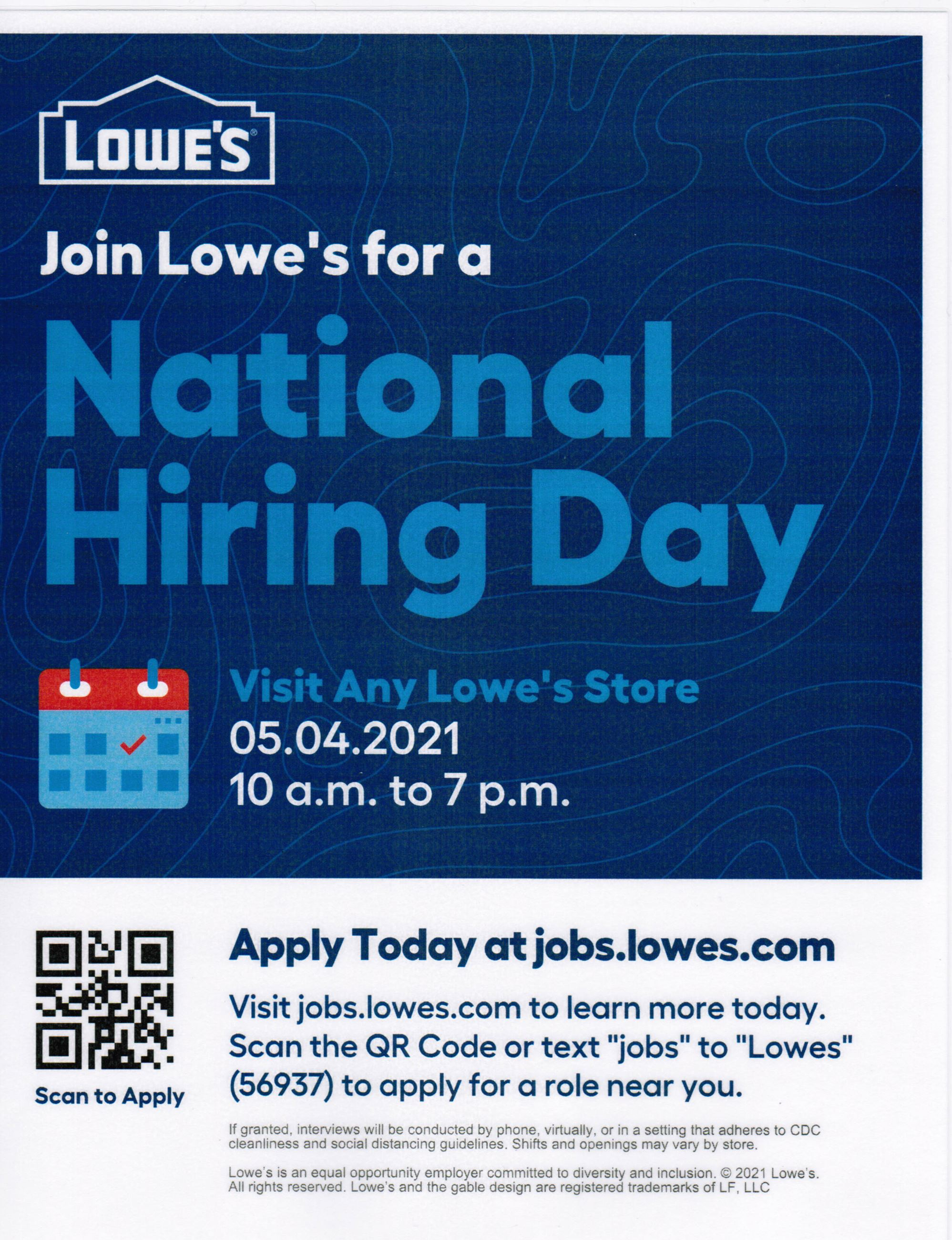 Lowes Hiring Day